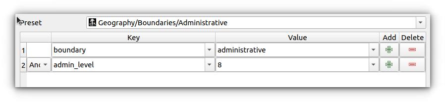 Multi keys in QuickOSM